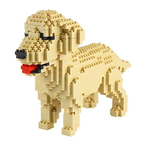 Larcele 950 Piezas Mini Golden Retriever Perro Bloques de Construcción Animal Favorito Construyendo Ladrillos de Juguete KLJM-02(Golden Retriever)