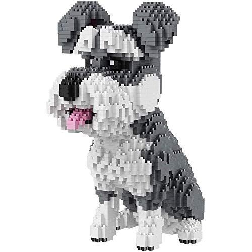TITST 2000+ Piezas Super Cute Dog Model Building Block Nano Mini Blocks DIY Game Toy Regalos para Adultos y 6+ niños LUOWAN Schnauzer