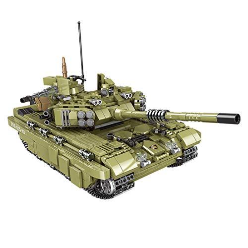 BGOOD Técnica tanque de construcción de bloques de construcción, 1386 piezas, tanque Tiger tanque WW2, tanque militar para niños y adultos, compatible con Lego Technic