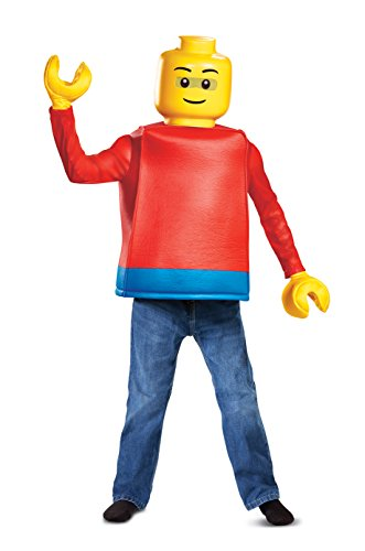 Lego Guy Classic - Disfraz de minifigura de Legoman para niños, tamaño pequeño
