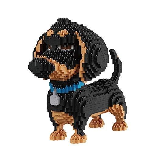 TITST 2000+ Piezas Super Cute Dog Model Building Nanoblock Nano Mini Blocks DIY Game Toy Regalos para Adultos y 6+ niños Dachshund