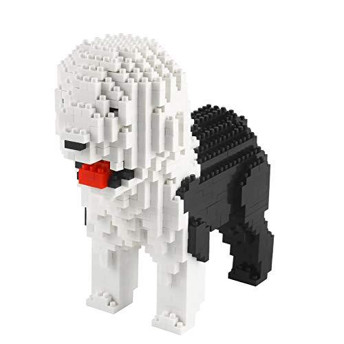 Larcele 950 Piezas Mini Perro Bloques de Construcción Animal Favorito Construyendo Ladrillos de Juguete KLJM-02(Bobtail)