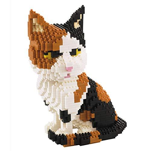 Gato Sentado. Figura para armar con Bloques en Miniatura. 1300 Piezas.