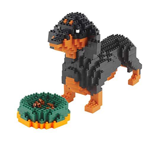 Larcele Bloques de construcción para perros pequeños, 898 piezas KLJM-02 (salchicha) reutilizables