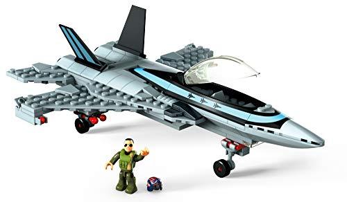 Mega Construx- Conjunto de construcción de Juguete Boeing F/A 18E Super Hornet (Mattel GPP89)