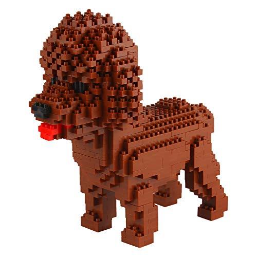 Larcele 950 Piezas Mini Perro Bloques de Construcción Animal Favorito Construyendo Ladrillos de Juguete KLJM-02(Caniche)