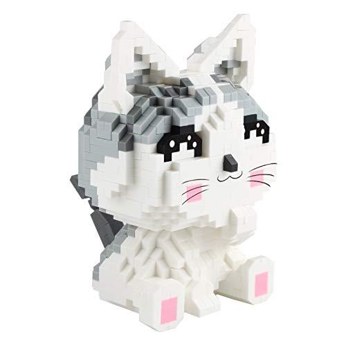 Larcele 1033 Piezas Mini Gato Bloques de Construcción Animal Construyendo Ladrillos de Juguete KLJM-02 (Gato,Modelo 2285)