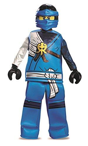 LEGO Disfraz Ninjago Jay Prestige para niños, pequeño, Edad 7 a 8años, o Altura 1,26m - 1,35m.