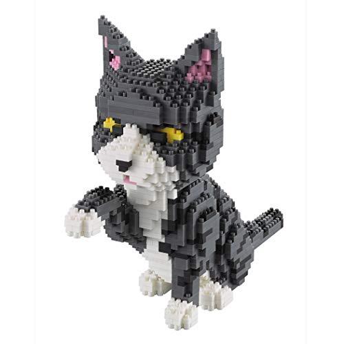 Gato Dando la Pata. Figura para armar con Bloques en Miniatura. 1300 Piezas.