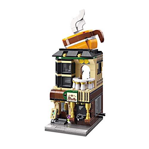 ColiCor Modelo de Construcción de Bloques 332 Piezas Cafetería Construcción Edificio de Ladrillos Creativo Conjunto de Bloques, Compatible con Lego