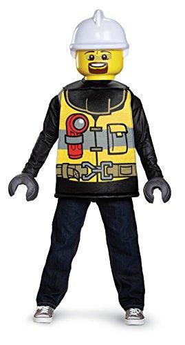 LEGO DISK18464L - Disfraz clásico para niños, bombero, pequeño