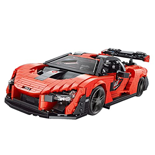 BGOOD Bloques de construcción para coche de carreras McLaren Senna, Mould King 10007, 1182 bloques de montaje de sujeción, compatible con Lego Technic