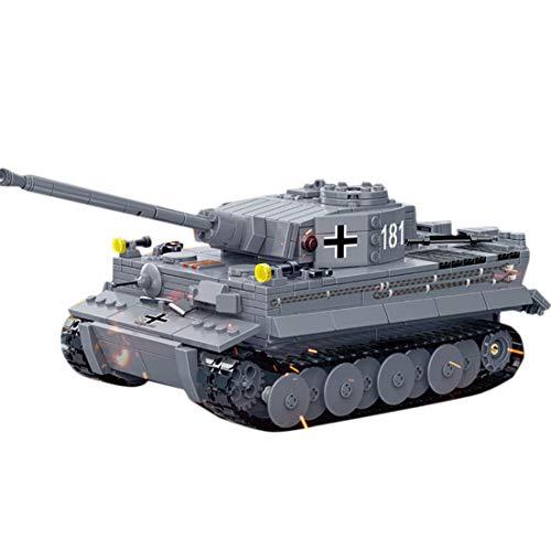 Tanques Militares Modelo de Bloques de Construcción, ColiCor 1010pcs WW2 Tiger Tanque Modelo, Juguetes del Tanque del Ejército para niños y Adultos, Compatible con Lego