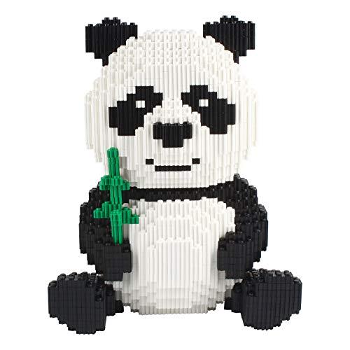 Larcele 3689 Piezas Panda Bloques de Construcción Animal Construyendo Ladrillos de Juguete KLJM-02 (Panda,Modelo 2840)