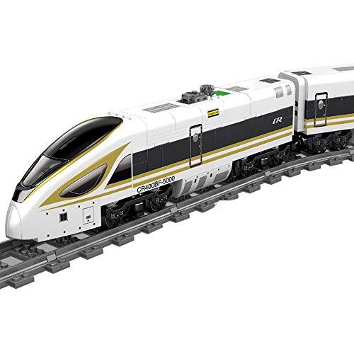 WEERUN Technic City Tren con Pista Set de Construcción, 647 Piezas Bloques- Maqueta de Juguete Tren Eléctrico City Tren de Pasajeros con Luces y Motor - Compatible con Lego