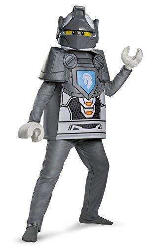 Disfraz Lego, Disfraz de Lujo para niños Nexo Lance, tamaño Mediano, para Edades Entre 7 y 8años, de Altura Entre 1,27m y 1,36m