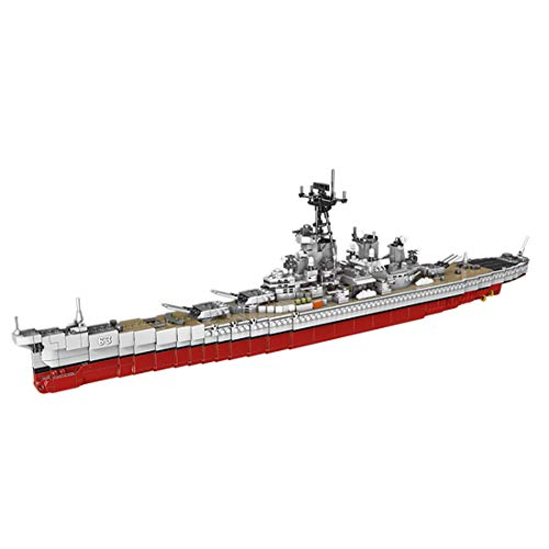 HYZM Technic BB-63 bloques de construcción modelo de acorazado, 2631 piezas USS Missouri US Navy Battleship BB-63, juego de construcción compatible con Lego
