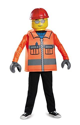 LEGO DISK18461L Disfraz clásico para niños, trabajadores de la construcción, pequeño