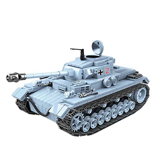 Tanques Militares Modelo de Bloques de Construcción, ColiCor 716pcs WW2 Militares German No.4 Medium Tanque Modelo, Juguetes del Tanque del Ejército para niños y Adultos, Compatible con Lego