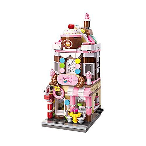 ColiCor Modelo de Construcción de Edificio 344 Piezas Postre House Construcción Edificio de Ladrillos Creativo Conjunto de Bloques, Compatible con Lego