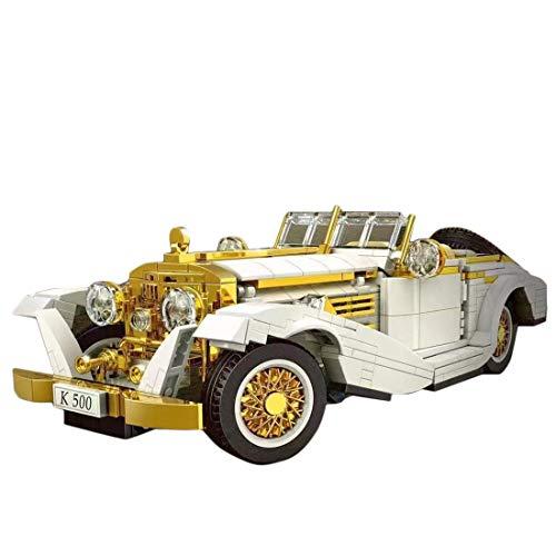 BGOOD Bloques de construcción de coche para K500, 868, bloques de construcción de sujeción, sistema de construcción de coche antiguo, compatible con la técnica Lego