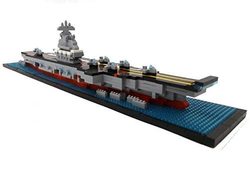 Portaaviones, bloques de construcción, barco, 1300 piezas, juguete de construcción