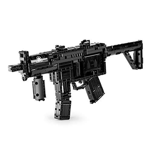 BGOOD Juego de construcción de rifle de construcción Mould King 14001, 783 bloques de construcción para disparar, MP5, modelo con balas, compatible con Lego