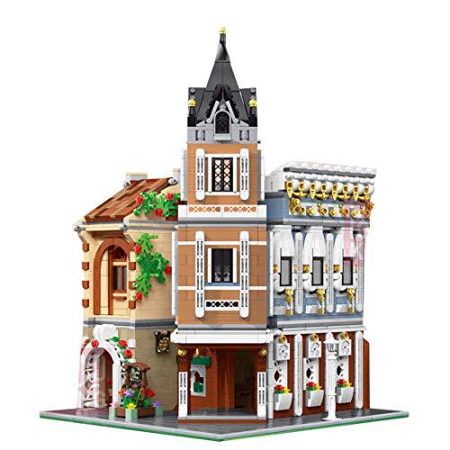 ColiCor Modelo de Construcción de Bloques con luz 3039 Pcs Casa de té de la tabernaEdificios de Juguete Construcción Edificio de Ladrillos Creativo Conjunto de Bloques, Compatible con Lego