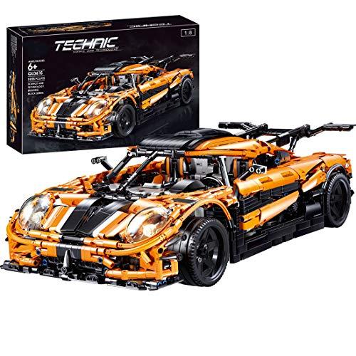 HYZM Technic Sports - Bloques de construcción para coche, 3055 piezas, modelo Koenigsegg Supercar, 1: 8, kits de construcción compatibles con Lego Technic