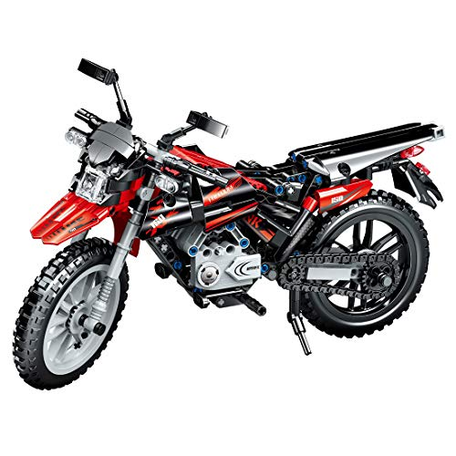 ColiCor Technic Modelo de Off-Road Motocicleta 481pcs Juego de construcción de Technic Motocicleta Bloques para Alpinismo Motocicleta, Compatible con Lego Technic