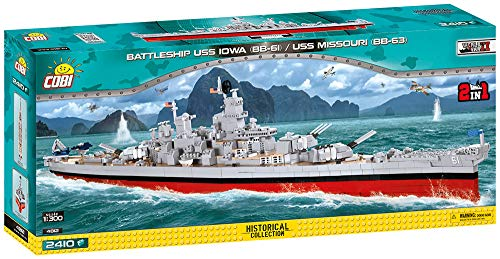 Cobi Klocki Small Army Pancernik USS Iowa (BB-61) / Missouri [KLOCKI] (4812)