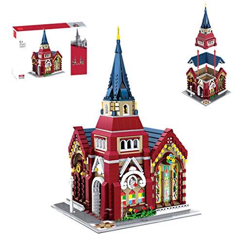 ColiCor Modelo de Construcción de Bloques 2346 Piezas Iglesia Edificios de Juguete Construcción Edificio de Ladrillos Conjunto de Bloques, Compatible con Lego