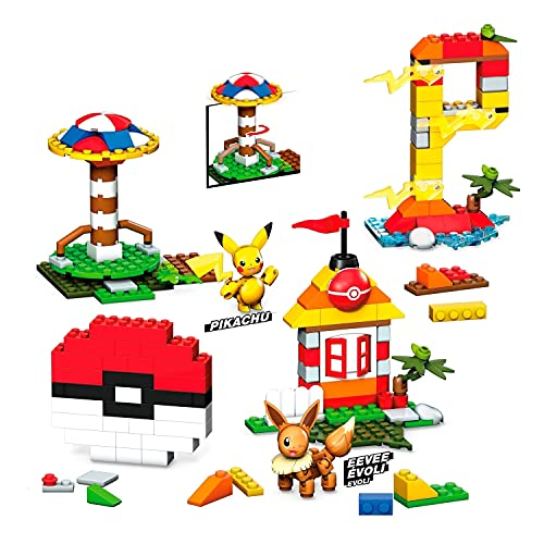 Mega Construx Pokemon Caja de Bloques de Construcción con 450 Piezas (Mattel GMD35)