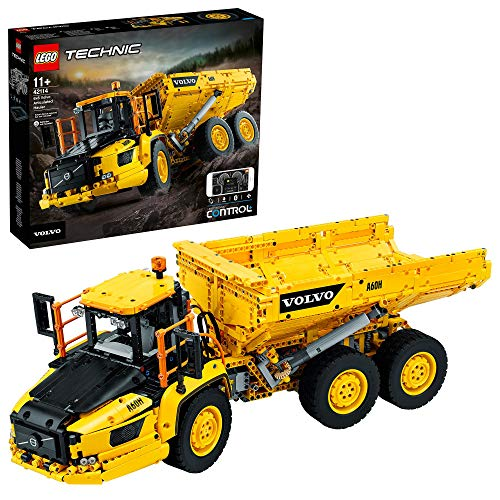 LEGO 42114 Technic Dúmper Articulado Volvo 6x6 Gran Coche de Construcción Controlado por la App Control + Teledirigido