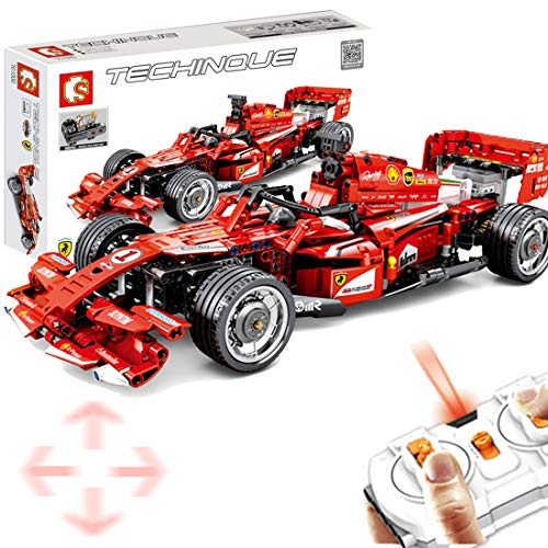 ColiCor Technic Modelo de Deportes Formula F1, 585 pcs 2.4G Control Remoto Coche de Carreras para Technic Deportes Formula F1 Compatible con Lego Technic