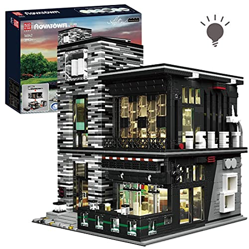 BGOOD Mould King 16042, 3992 bloques de construcción modulares con iluminación, modelo de casas, compatible con Lego Creator Expert
