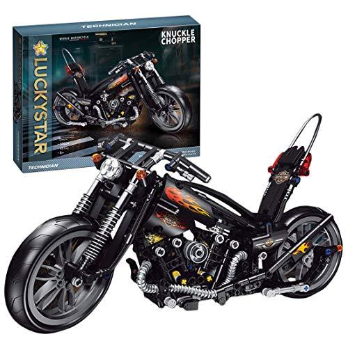 BGOOD Juego de construcción para moto Harley, 451 bloques de sujeción, compatible con Lego Technic