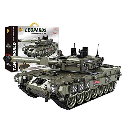 Tanques Militares Modelo de Bloques de Construcción, ColiCor 1747pcs WW2 German Leopard 2 Tanque Modelo, Juguetes del Tanque del Ejército para niños y Adultos, Compatible con Lego