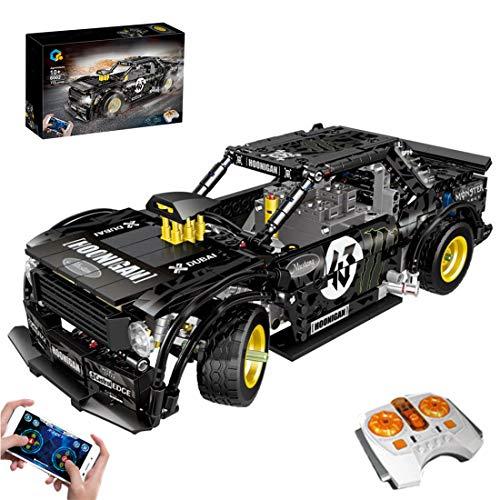 ColiCor Technic Modelo de Coche Deportivo 775pcs 2.4G Control Remoto Kits de modelismo de Coche Deportivo para Ford Mustang, Compatible con Lego