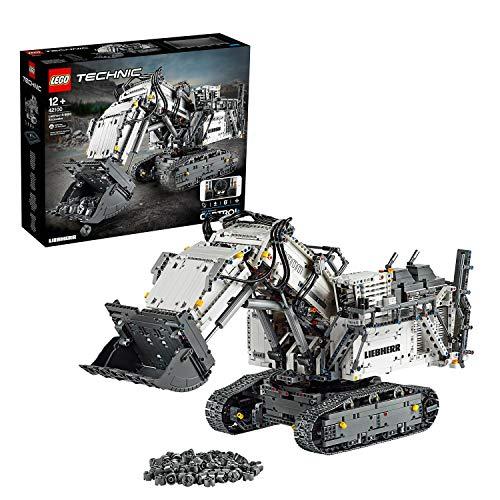 LEGO 42100 Technic Control+ Excavadora Liebherr R 9800, Vehículo de Construcción RC Teledirigido para Adultos, con Motores y Smarthubs