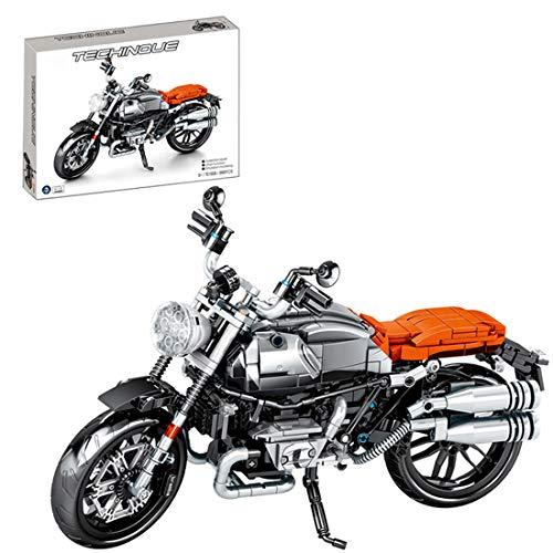 Technic Modelo de Off-Road Motocicleta, ColiCor 886pcs Juego de construcción de Technic Motocicleta Bloques para V4 Motocicleta, Compatible con Lego Technic