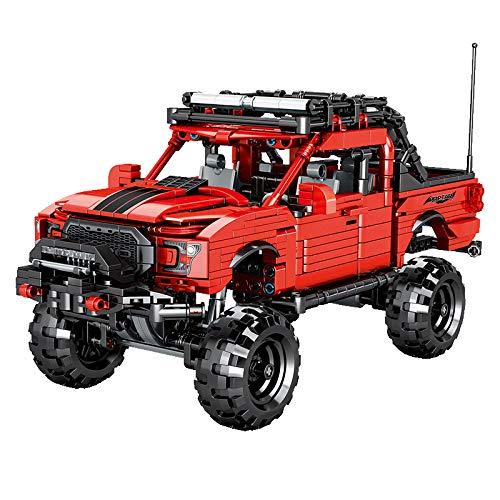 HYZM Technic - Bloques de construcción para coche todoterreno, 989 piezas Techinc para Ford Raptor F150, compatible con Lego Technic