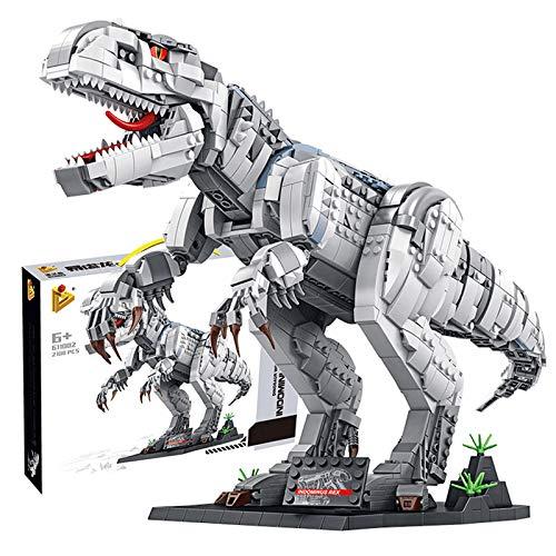WEERUN 2102 Piezas Dinosaurios Bloques de Construcción, Dinosaurios Jurassic Juguetes Dinosaurios Realistas Juguetes Educativo Regalo de Cumpleaños de Navidad para Niños y Niñas más de 8 Años