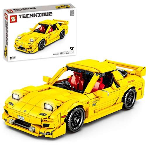 ColiCor Technic Sports Car Model, 772pcs Kits de modelismo de Coche Deportivo para Speed Champions, Technic Modelo Juguete de Coche de Carreras Compatible con Lego