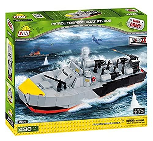 COBI- Barco Patrol Torpedo Boat PT-305, Color gris, negro, rojo y amarillo (2376) , color/modelo surtido
