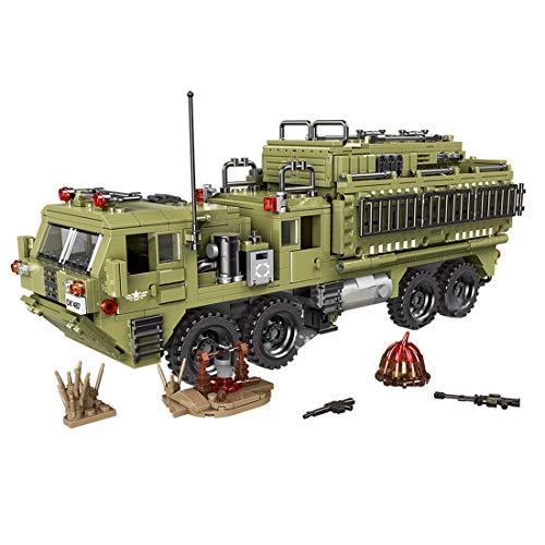BGOOD Técnica tanques de construcción de bloques de construcción, 1377 piezas, escorpión, camiones pesados WW2, tanque militar para niños y adultos, compatible con Lego Technic
