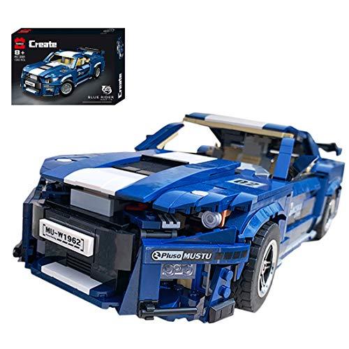 ColiCor Technic Sports Car Model, 1623pcs 1:10 Kits de modelismo de Coche Deportivo para Ford Mustang, Technic Modelo de Coche Deportivo Bloques, Compatible con Lego