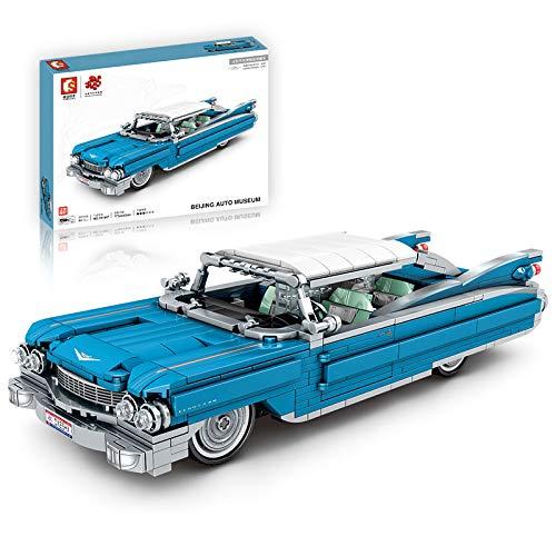 Tewerfitisme Compatible con coches de carreras Lego, 773 piezas, bloques de construcción de coches antiguos, ladrillos clásicos, modelo de vehículo retractable.
