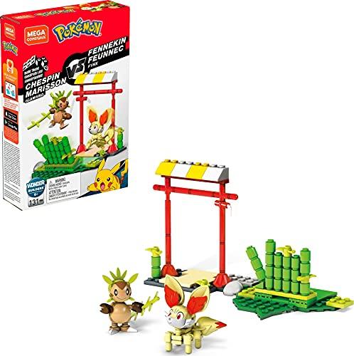 Mattel - Mega Construx Pokemon figuras Chespin vs. Fennekin juguete niños + 6 años ( GFV79)