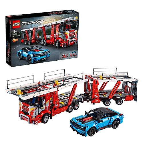 LEGO Technic - Camión de Transporte de Vehículos, Nueva maqueta de juguete, Set de construcción que Incluye un Coche Chevrolet Corvette ZR1 (42098)
